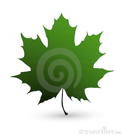 Green Maple Leaf Fabric Icon Stock Image - Image: 19209421