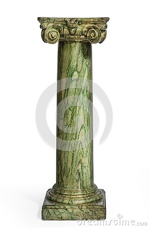 Free Green Marbled Column For Bust Or Vase Royalty Free Stock Photos - 139111658