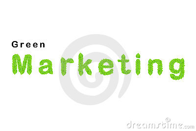 Green marketing word made up from green leafs