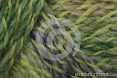 Green marl yarn