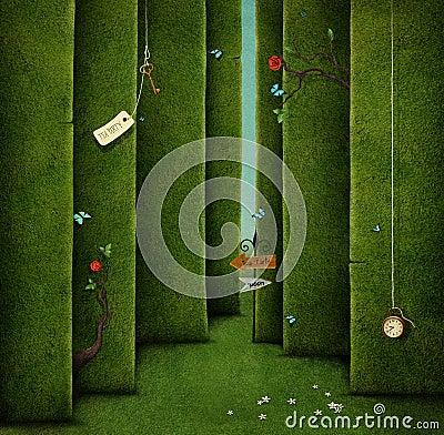 Free Green Maze Royalty Free Stock Image - 77127326