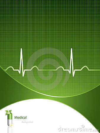 Free Green Medical Background Royalty Free Stock Photos - 18376958