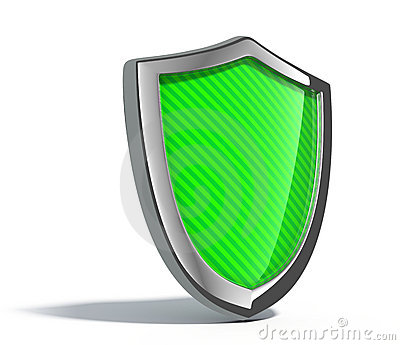 Green metal shield