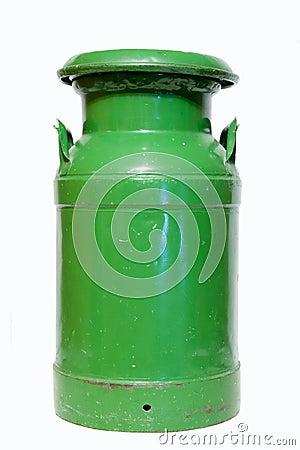 Green milk can