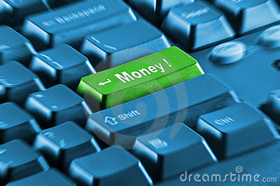 Green money key on pc keyboard