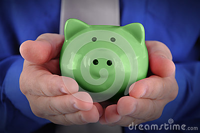 Green Money Piggy Bank