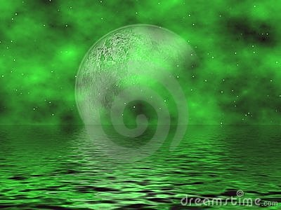 Green Moon & Water