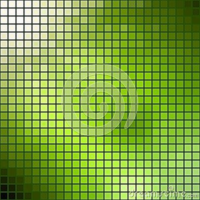 Green mosaic.