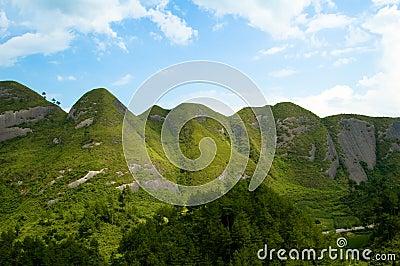 Green Mountain blue sky
