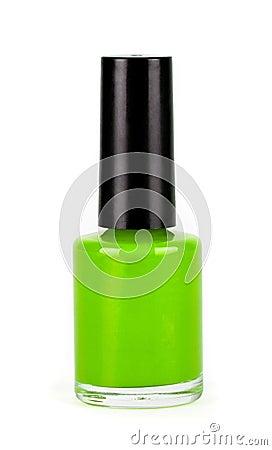 Green Nail Polish Bottle On White Background Stock Photo ...