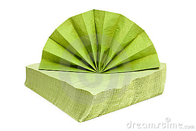 Green napkins.