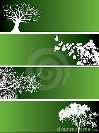 Free Green Nature Banners Royalty Free Stock Photography - 4572137