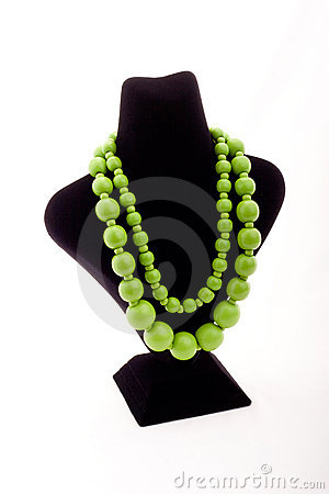 Free Green Necklace Royalty Free Stock Image - 9927206