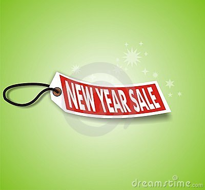 Green New Year Sale