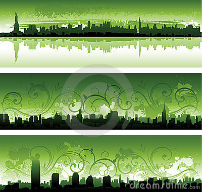 Green New York City panoramas