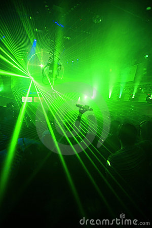 Green Night Club Party Background