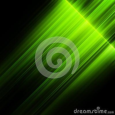 Green northern lights, aurora borealis.