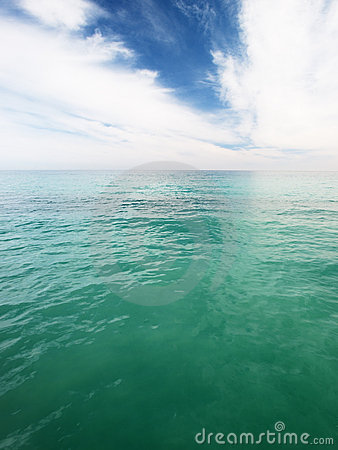 Green ocean water