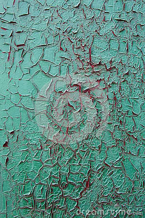 Free Green Oil Paint Was Peeling On The Red Metal As The Streaks Of B Stock Photo - 74219890