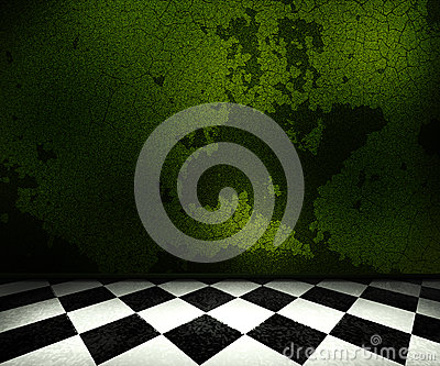 Green Old Room Background