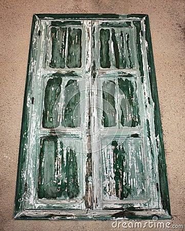 Green Old Window