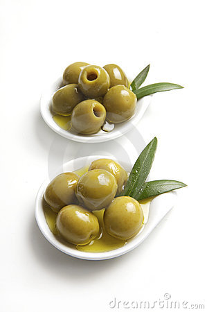 Green olives tapas