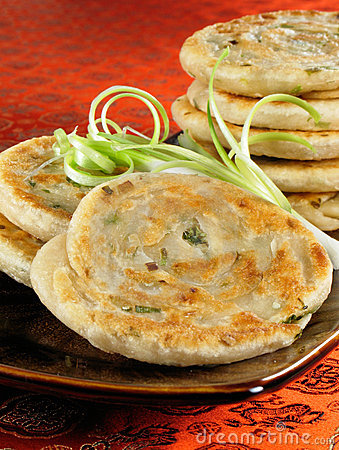 Free Green Onion Pancakes Stock Images - 6941874