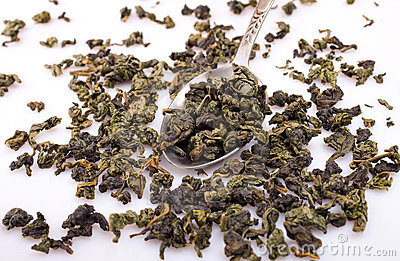 Green oolong tea