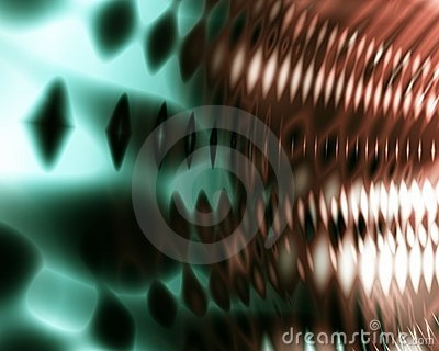Green and Orange Sound Wave Background Abstract