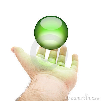 Green Orb Hand