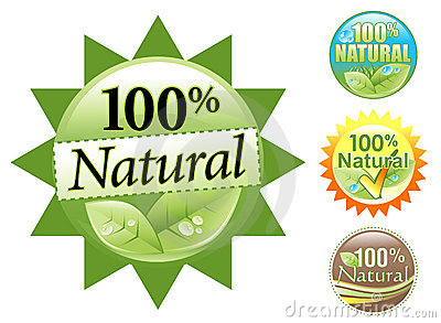 Green Organic 100  Natural Icon Set