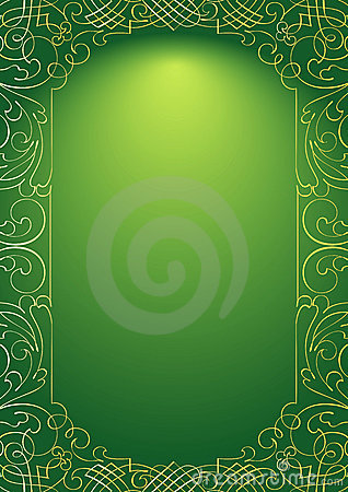 Green Ornament Background Royalty Free Stock Photo - Image ...