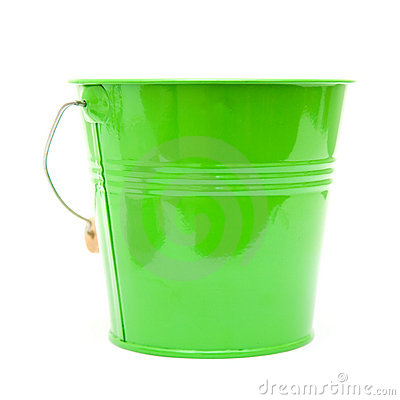 Green ornamental bucket