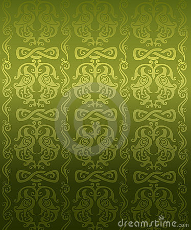Green ornamental pattern