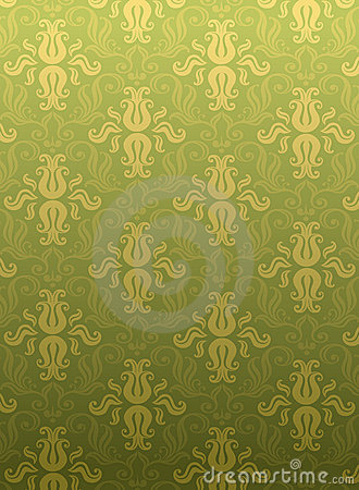 Green ornamental pattern