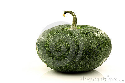 Green ornamental pumpkin