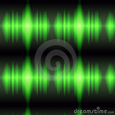 Green oscilloscope display