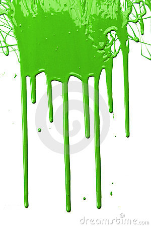 Green Paint Dripping