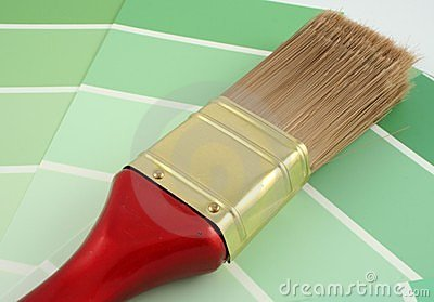 Paint Samples on Stock Image  Green Paint Samples  Image  299641