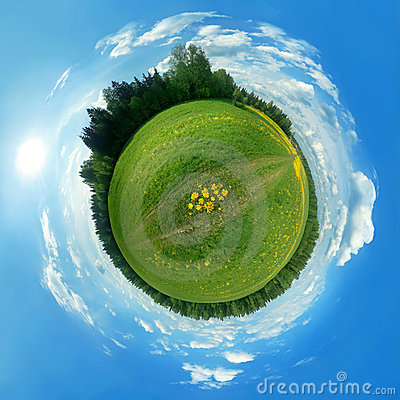 Free Green Panorama Globe Stock Image - 6900081