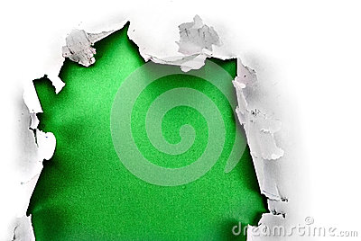 Green paper hole.