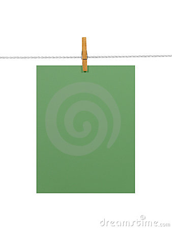 Green paper sheet (+2 clipping