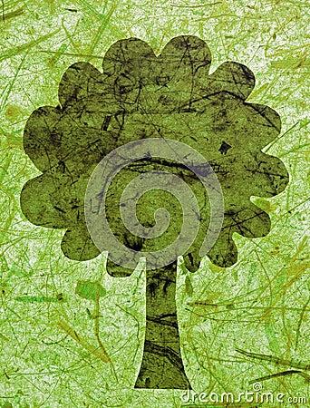 Green paper tree