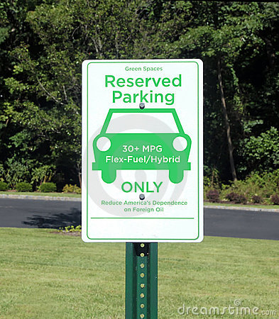 Green Parking Sign