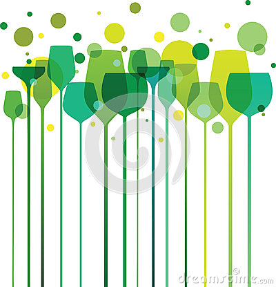 Free Green Party Glasses Royalty Free Stock Image - 28463006