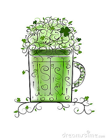 Green Patrick s beer for your party