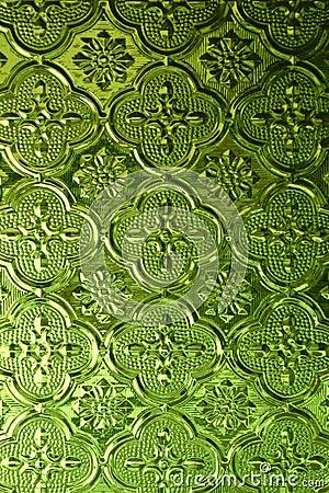 Green Pattern Glass