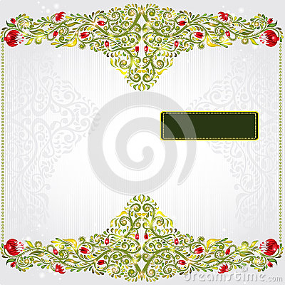 Green pattern glossy background