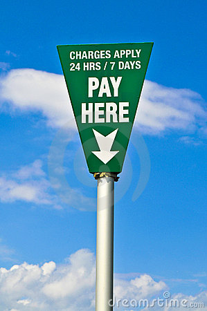 Green pay here sign
