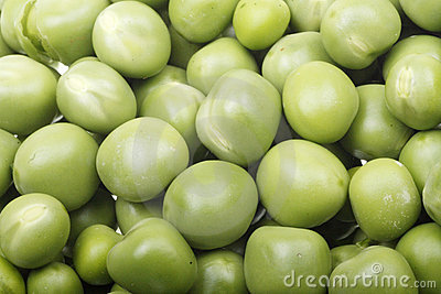 Green peas close-up